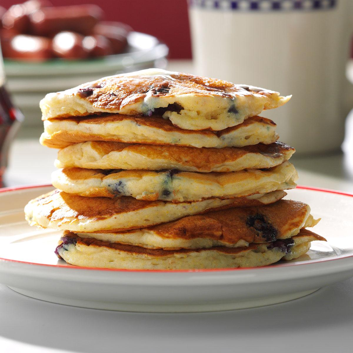 Dads blueberry buttermilk pancakes recipe taste of home ccuart Gallery