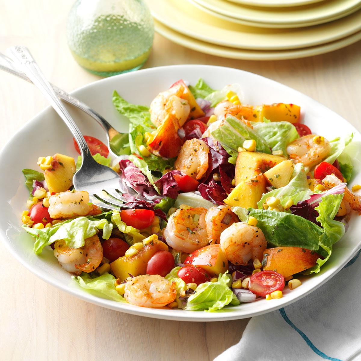 Shrimp & Nectarine Salad Recipe