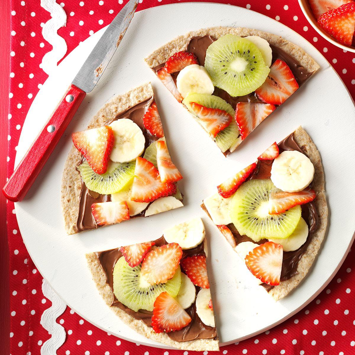 Chocolate-Hazelnut Fruit Pizza Recipe