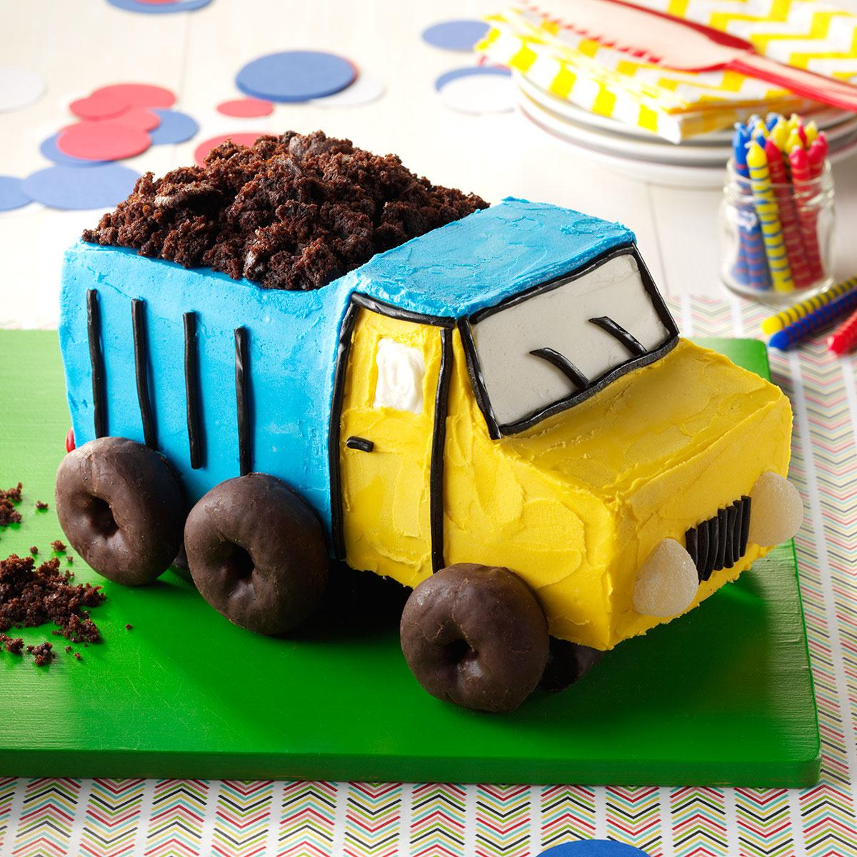 truck birthday cake dump truck cake recipe taste of home 8088