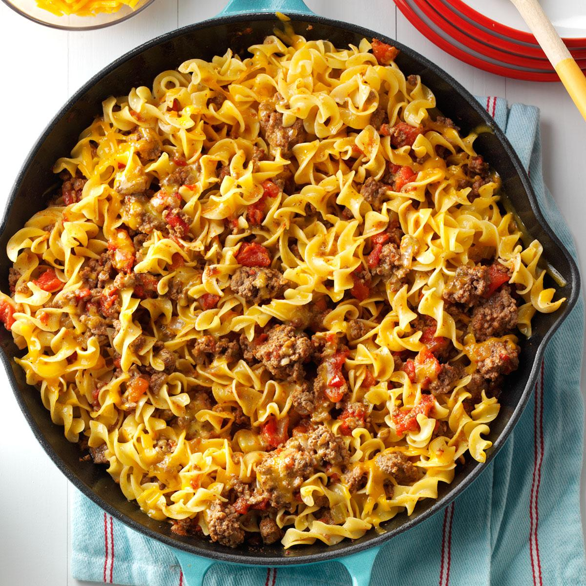 Chili Beef Noodle Skillet Recipe