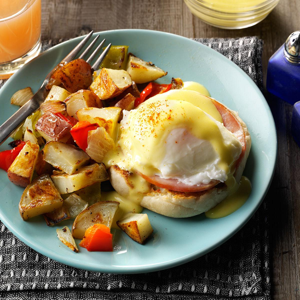 Eggs Benedict with Homemade Hollandaise Recipe  Taste of Home