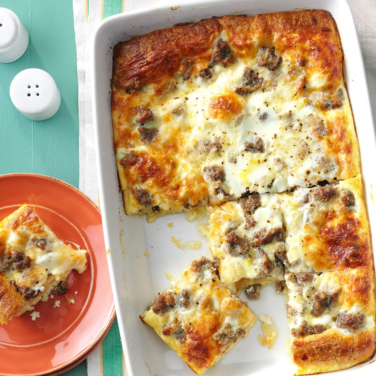 Do Ahead Egg And Sausage Bake: Sausage & Crescent Roll Casserole Recipe