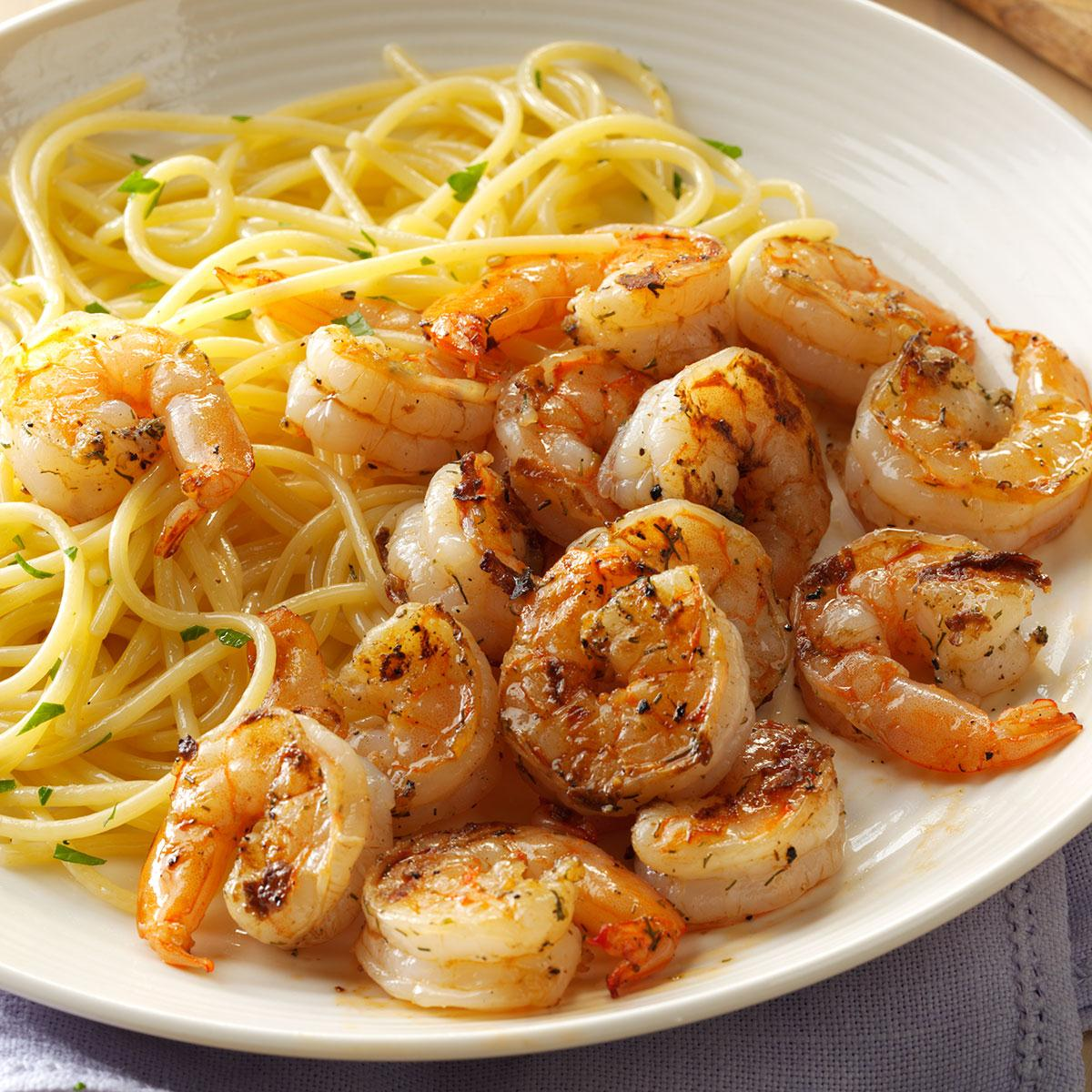 Grilled Lemon-Dill Shrimp Recipe