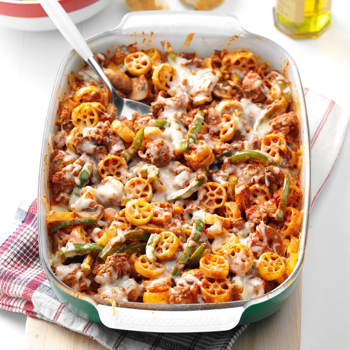 70 Saucy Creamy And Cheesy Italian Christmas Food Recipes: Wagon Wheel Casserole Recipe