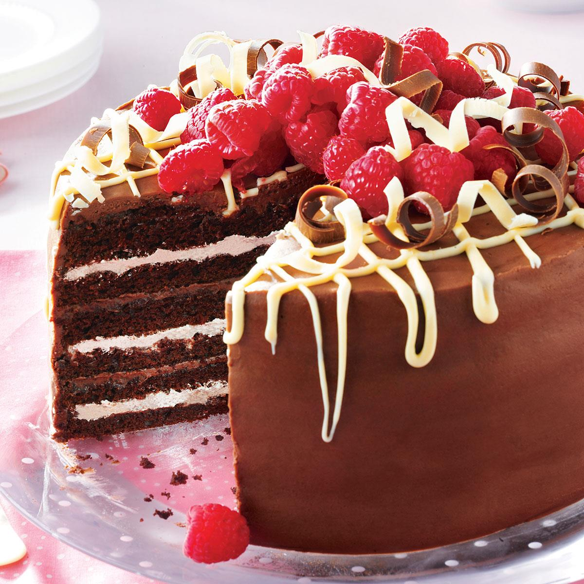 chocolate torte cake chocolate torte with raspberry recipe taste 2911