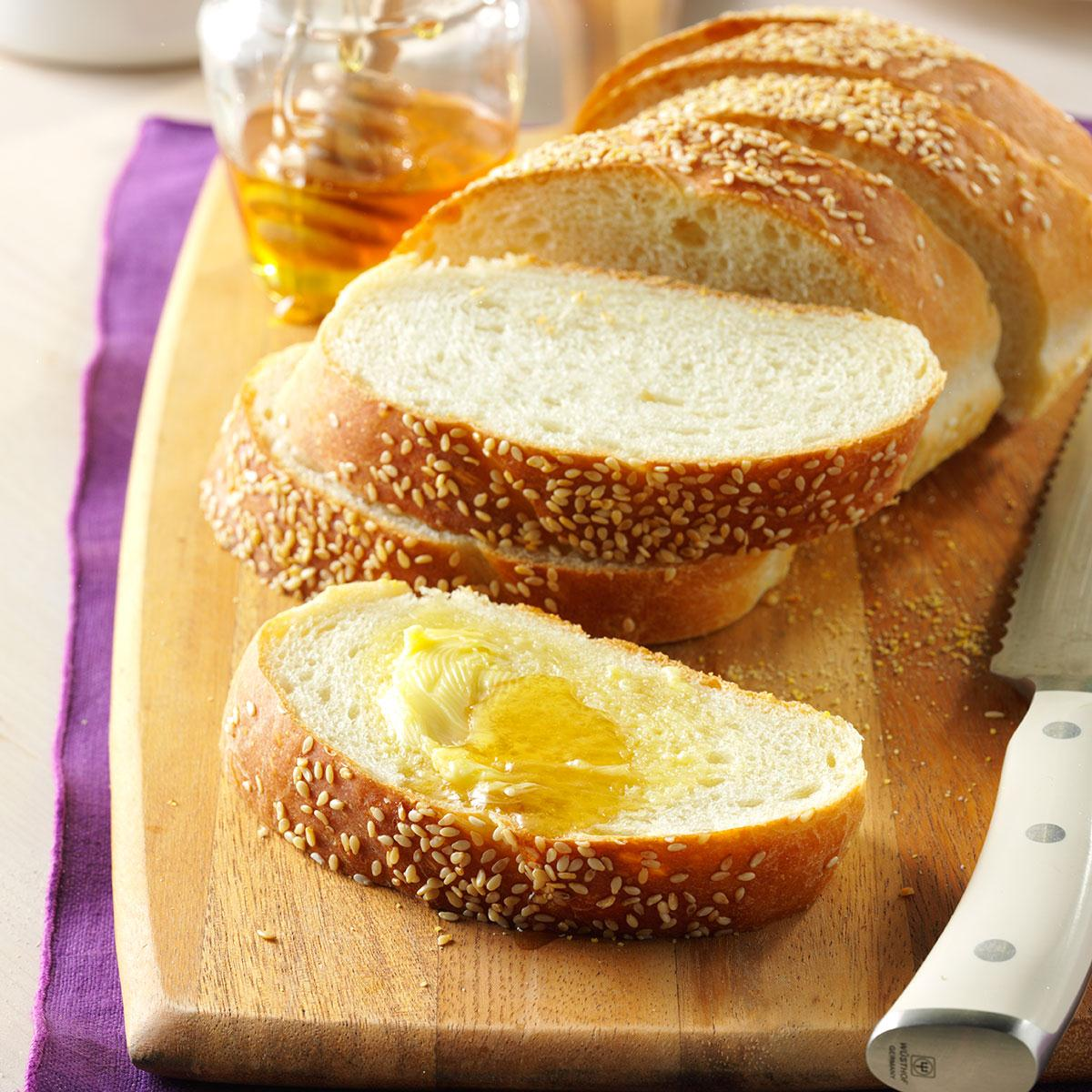 Sesame French Bread Recipe Taste Of Home