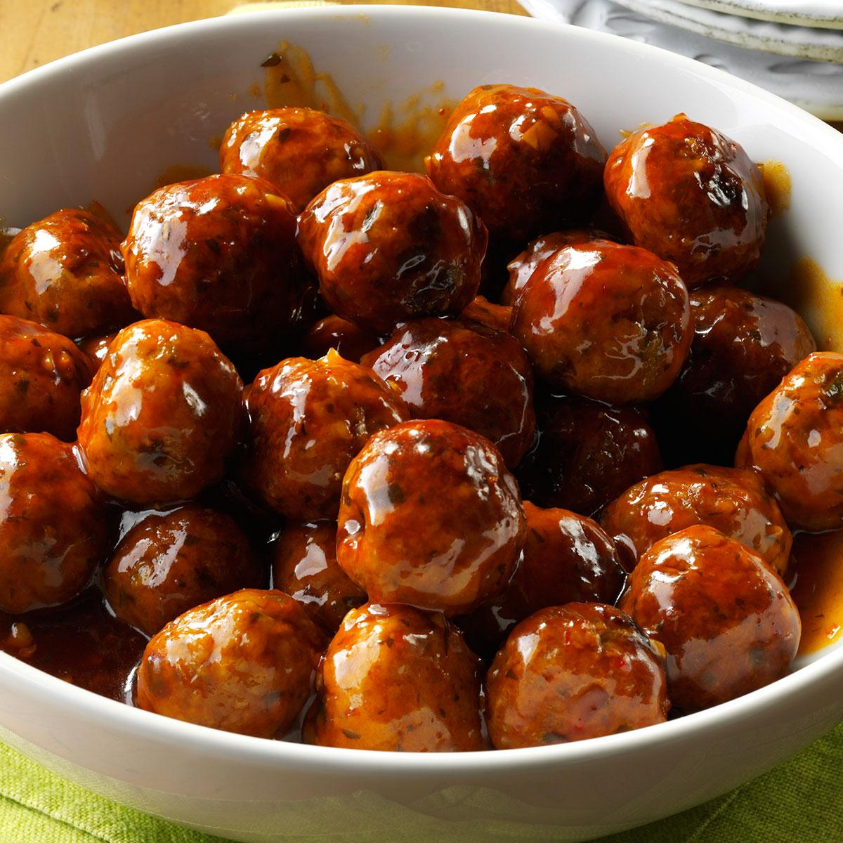 Sweet And Spicy Asian Meatballs Recipe