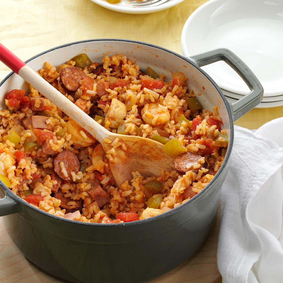 My best ever jambalaya recipe taste of home for Best dinner recipes ever