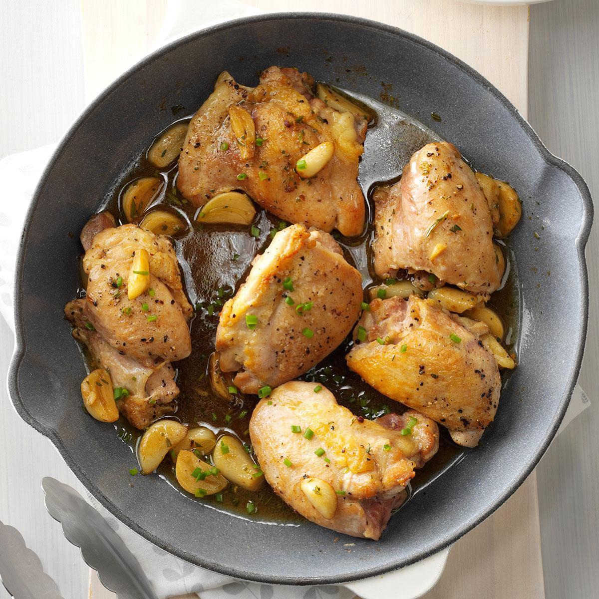 Chicken & Garlic With Fresh Herbs Recipe