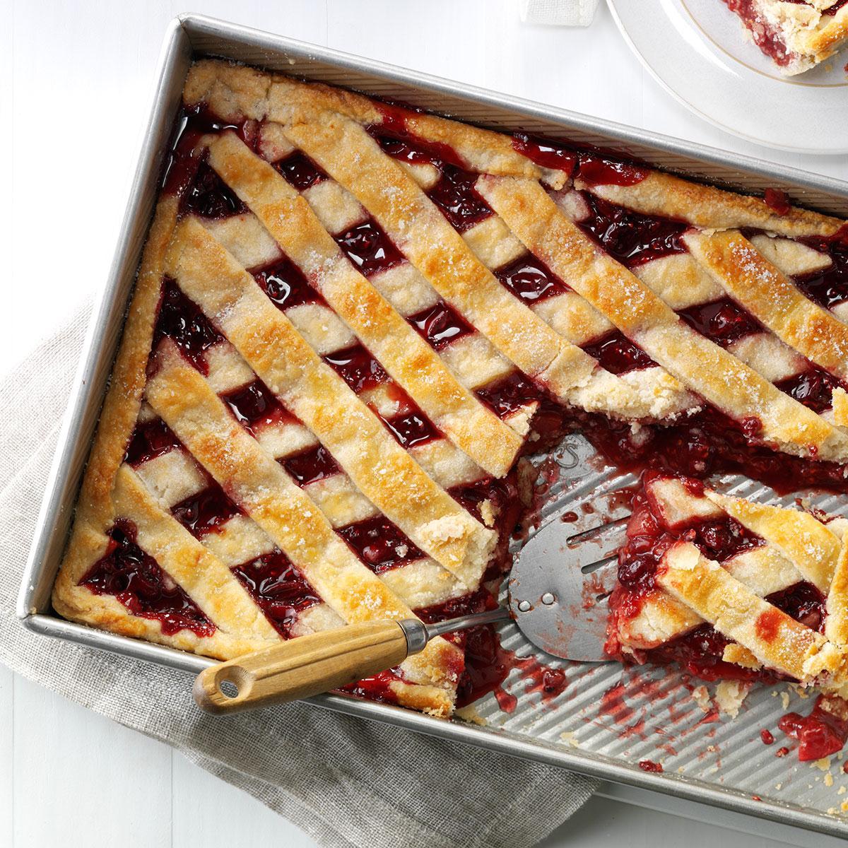 Apple Cranberry Slab Pie Recipe Taste Of Home