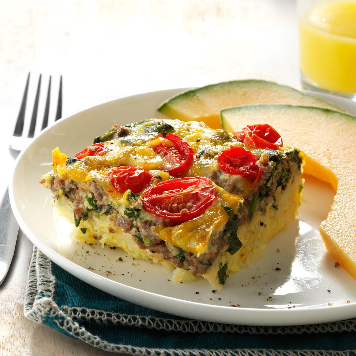 Beef, Potato & Egg Bake Recipe