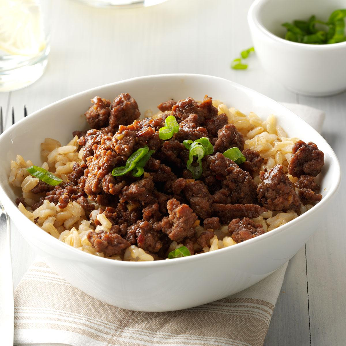 Korean Beef And Rice Recipe
