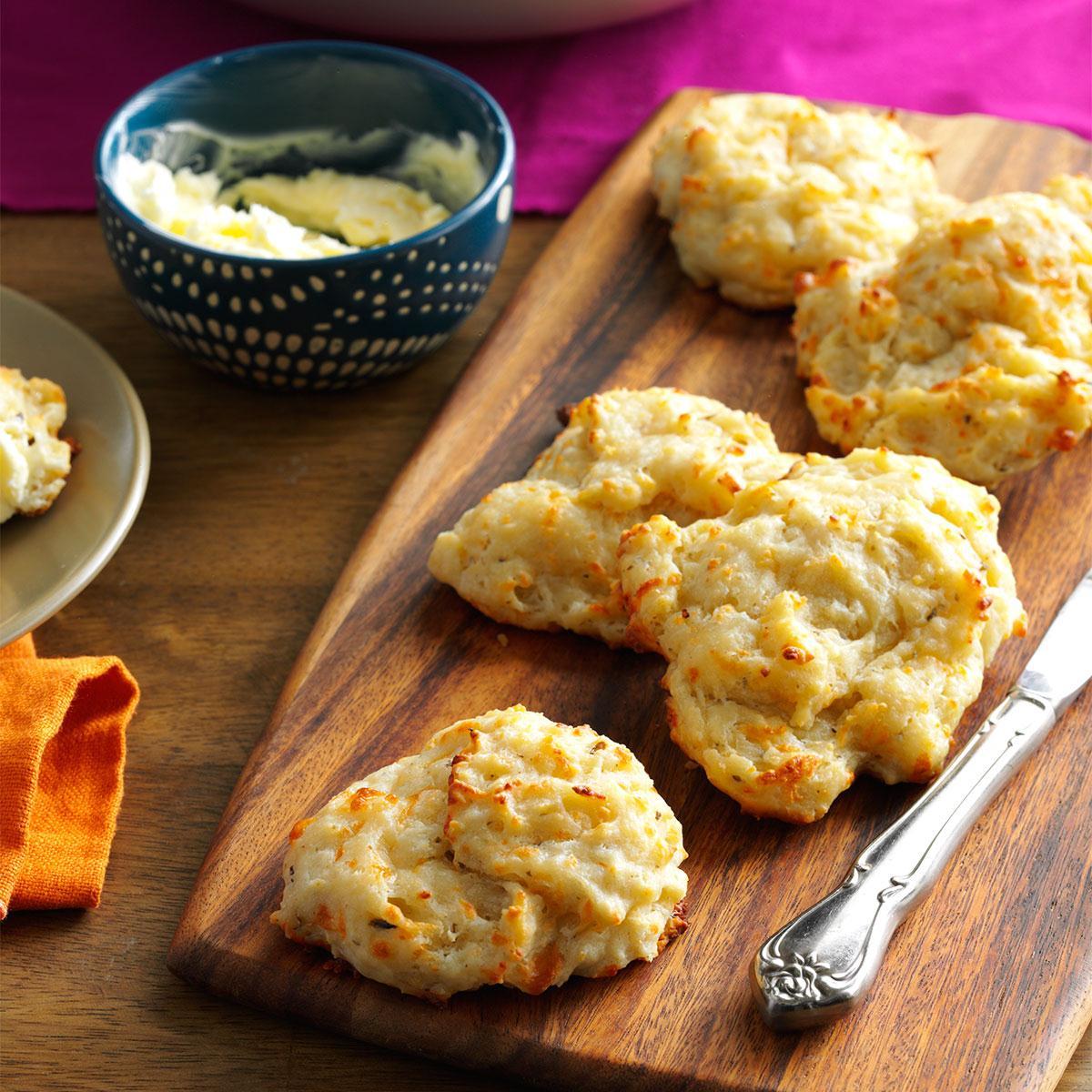 Cheese & Pesto Biscuits Recipe