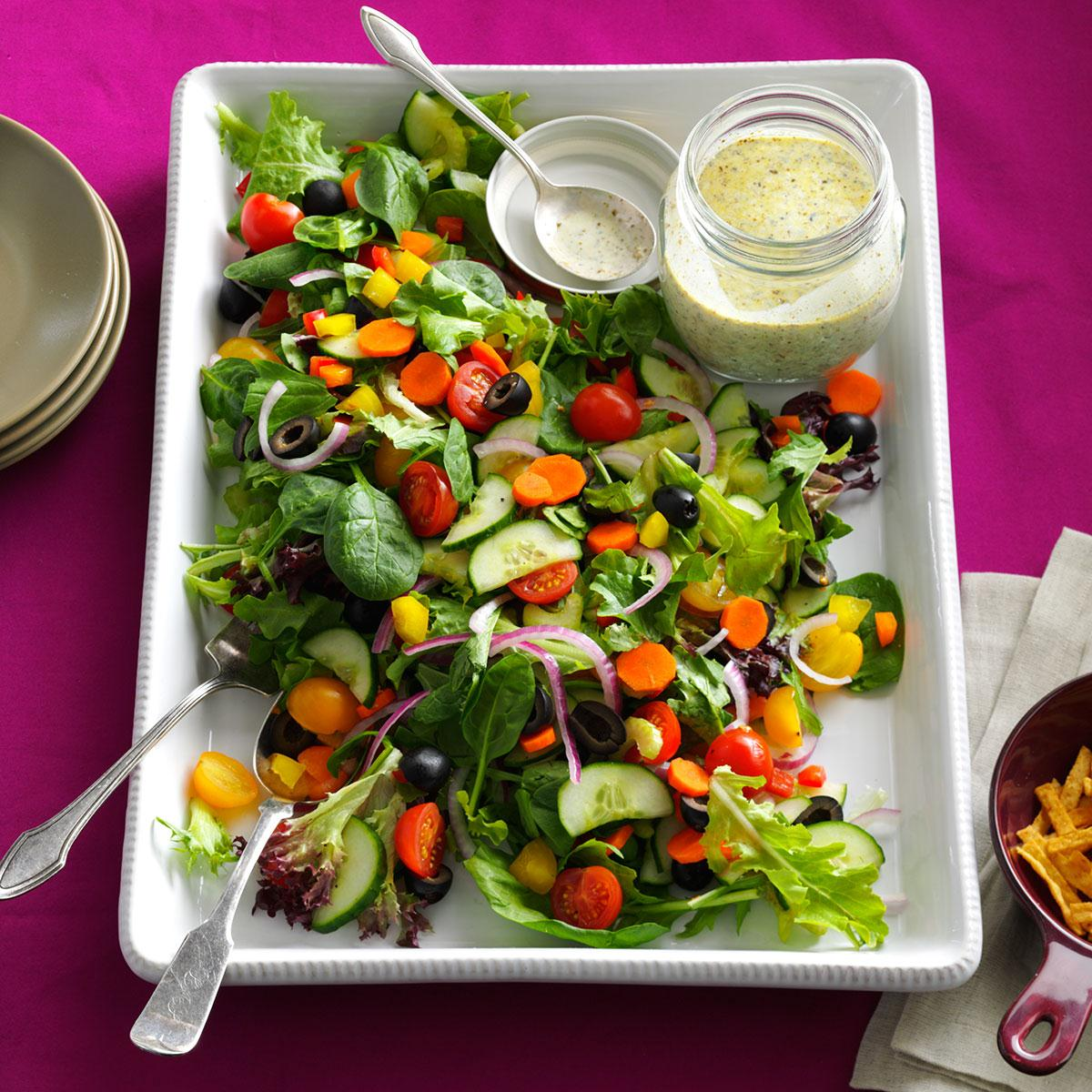 Veggie Christmas Tree Recipe: Rainbow Veggie Salad Recipe