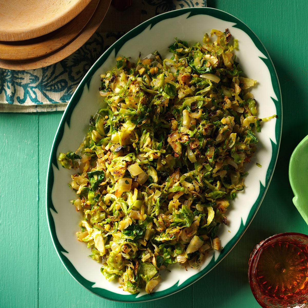 Shredded Gingered Brussels Sprouts Recipe Taste Of Home