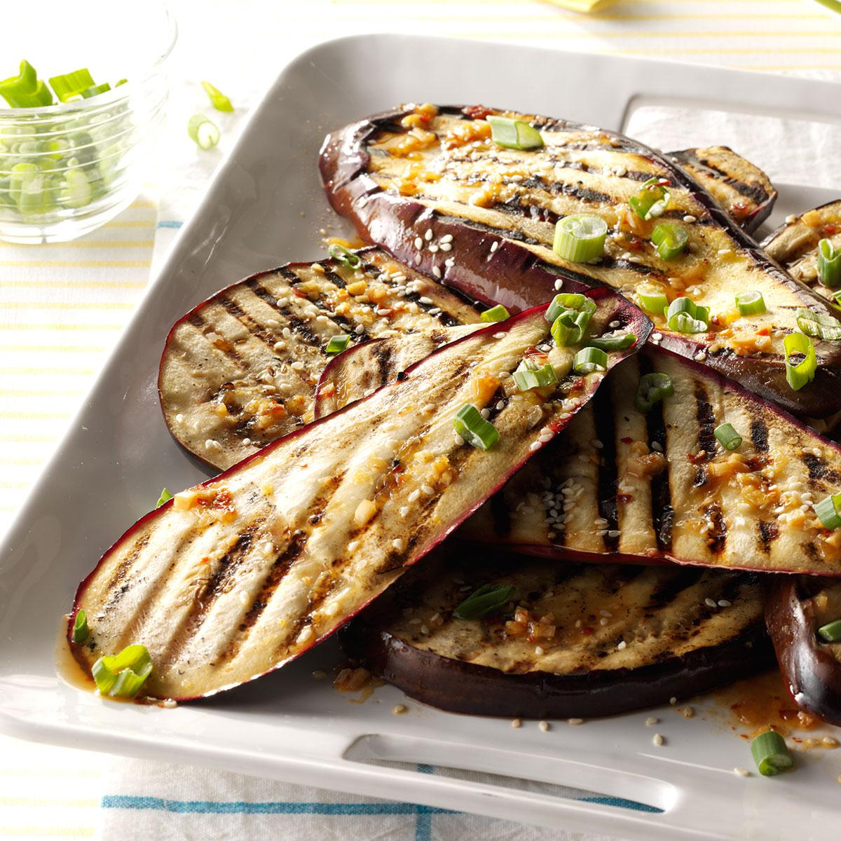 grilled eggplant recipes lime and sesame grilled eggplant recipe taste of home 30259