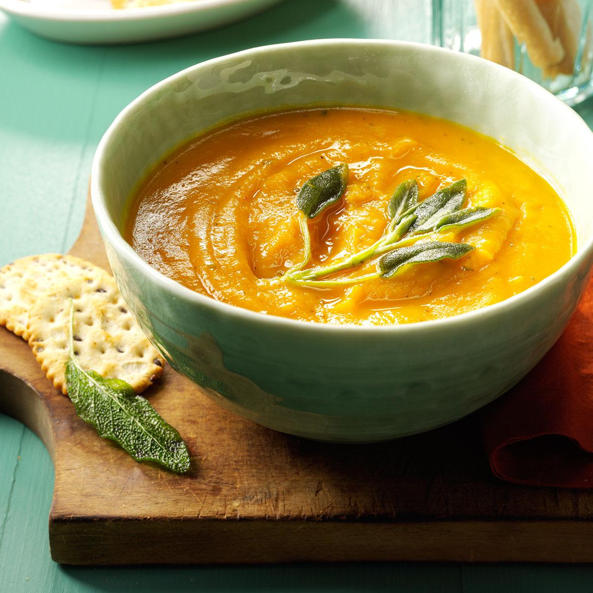 Creamy Butternut Squash & Sage Soup Recipe