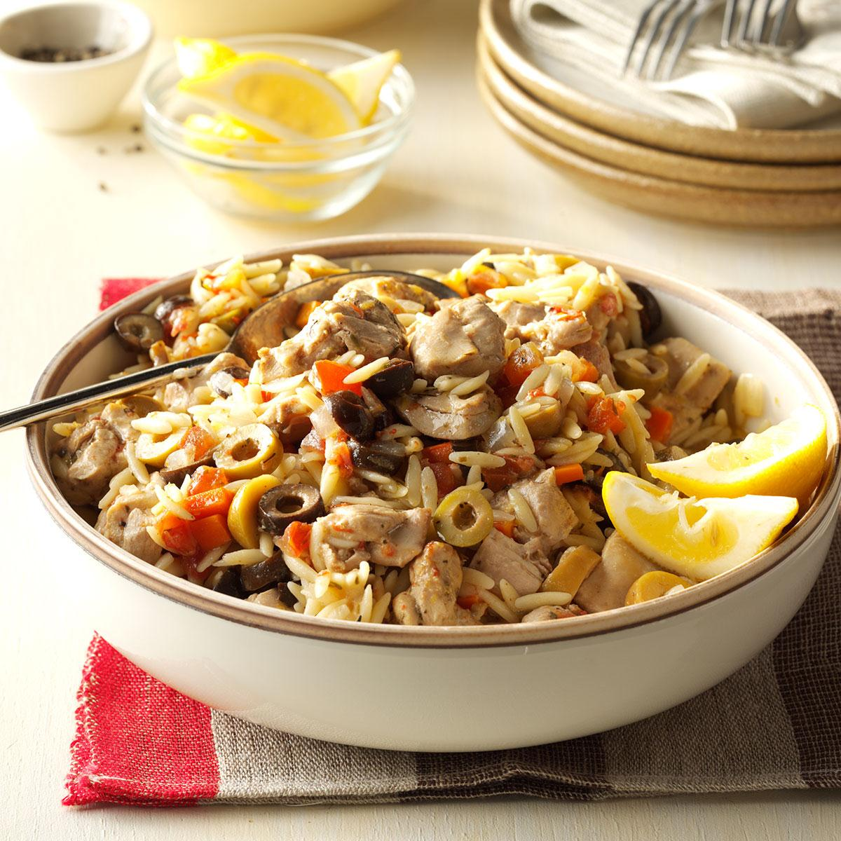 Mediterranean chicken orzo recipe taste of home forumfinder Images