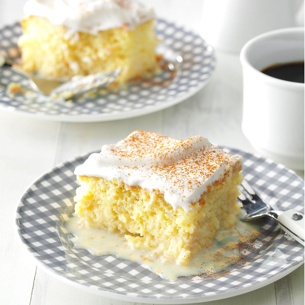 Shortcut Tres Leches Cake Recipe Taste Of Home