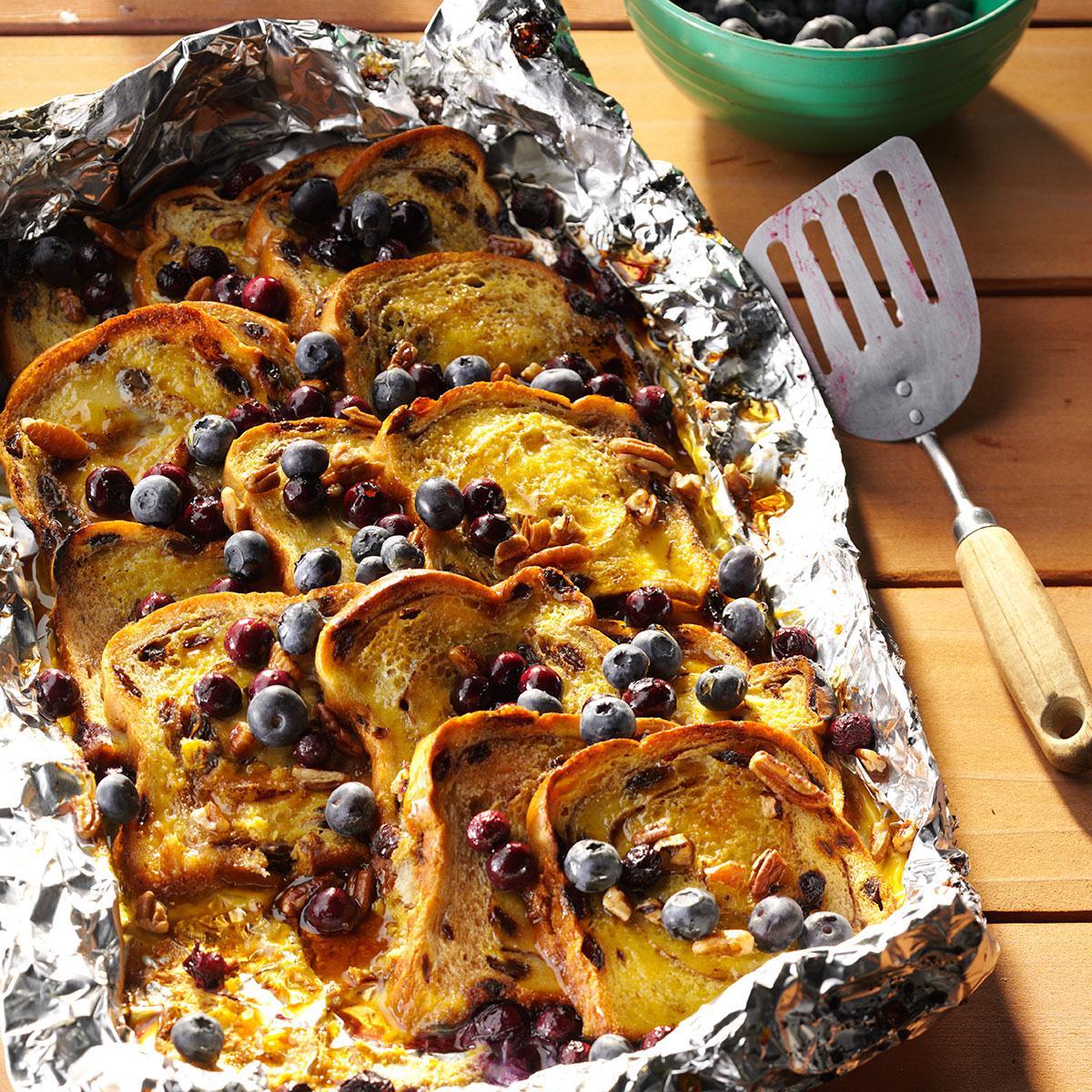 Blueberry-Cinnamon Campfire Bread Recipe | Taste of Home