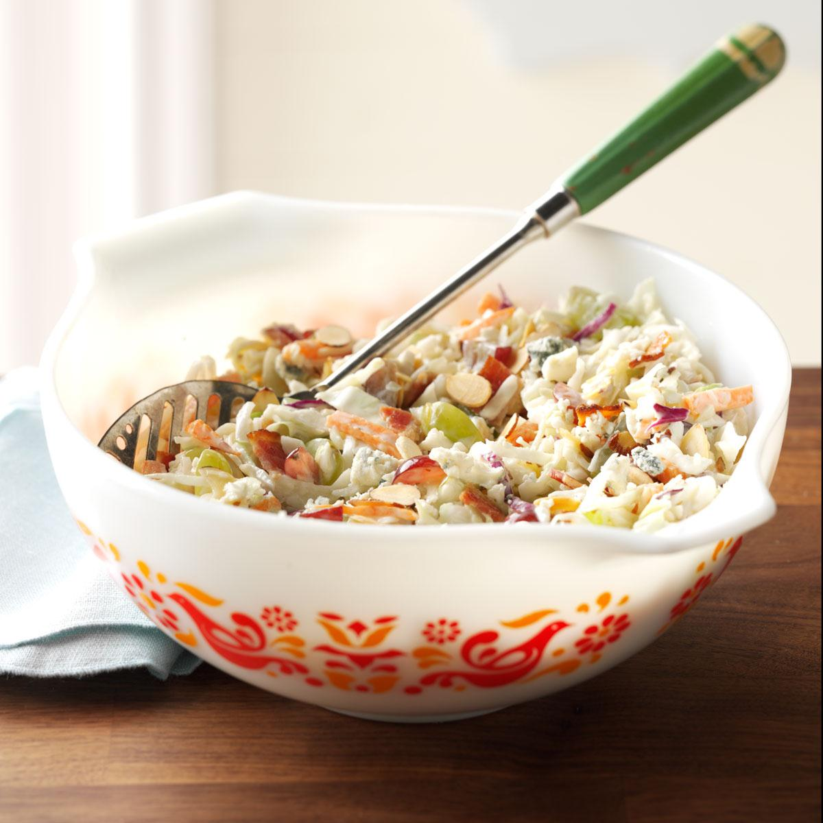 Blue Cheese & Grape Coleslaw Recipe