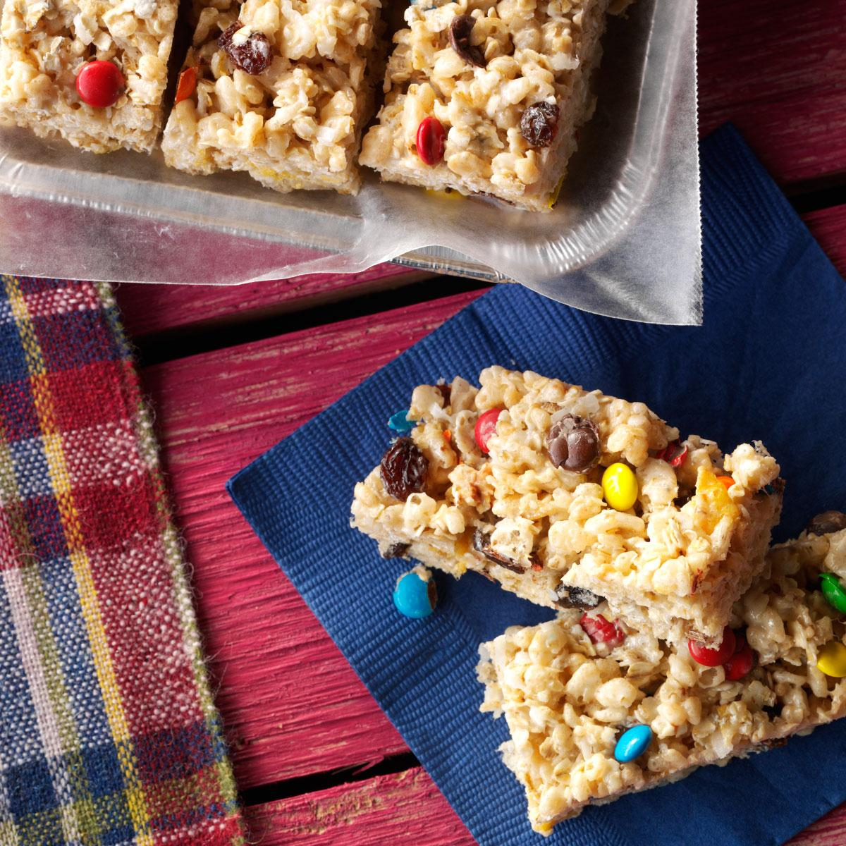 Top 10 Great Camping Recipes: No-Bake Cereal Cookie Bars Recipe