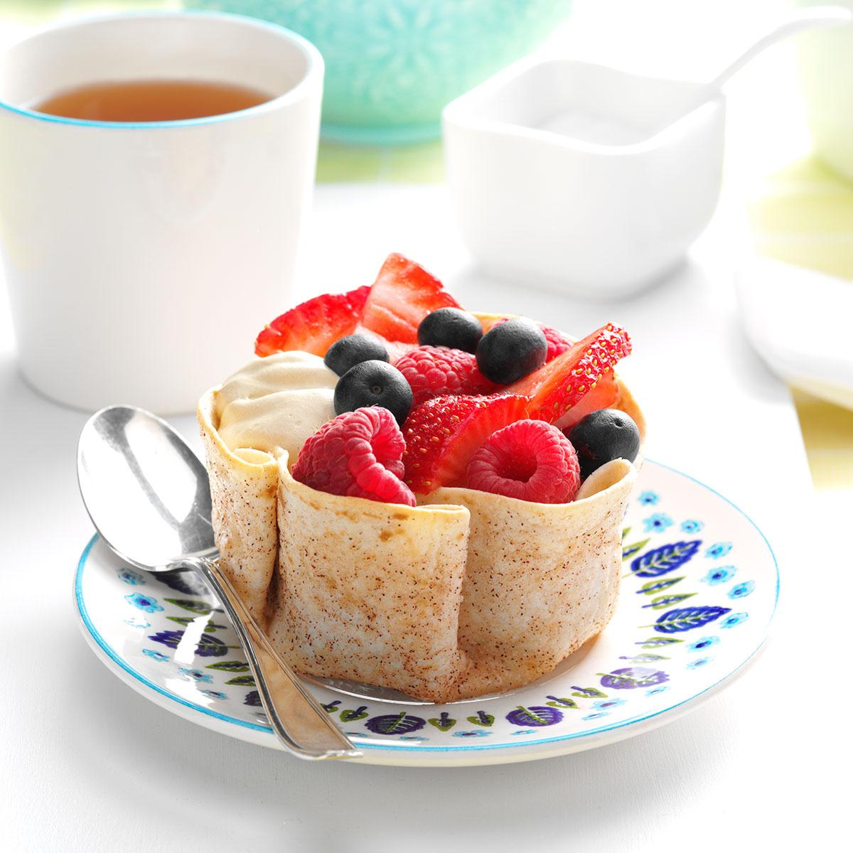 Coffee cream tortilla cups recipe taste of home forumfinder Choice Image