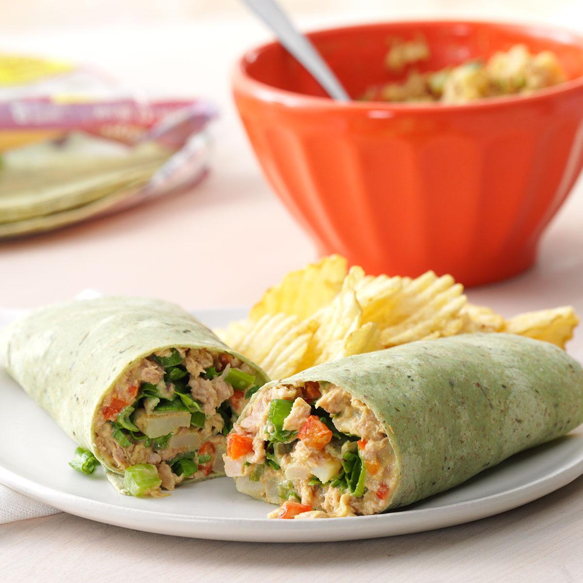 Crunchy Tuna Wraps Recipe | Taste of Home