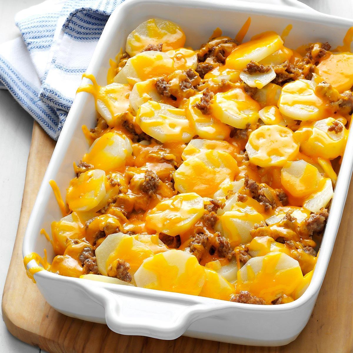 Cheesy Sausage Potatoes Recipe
