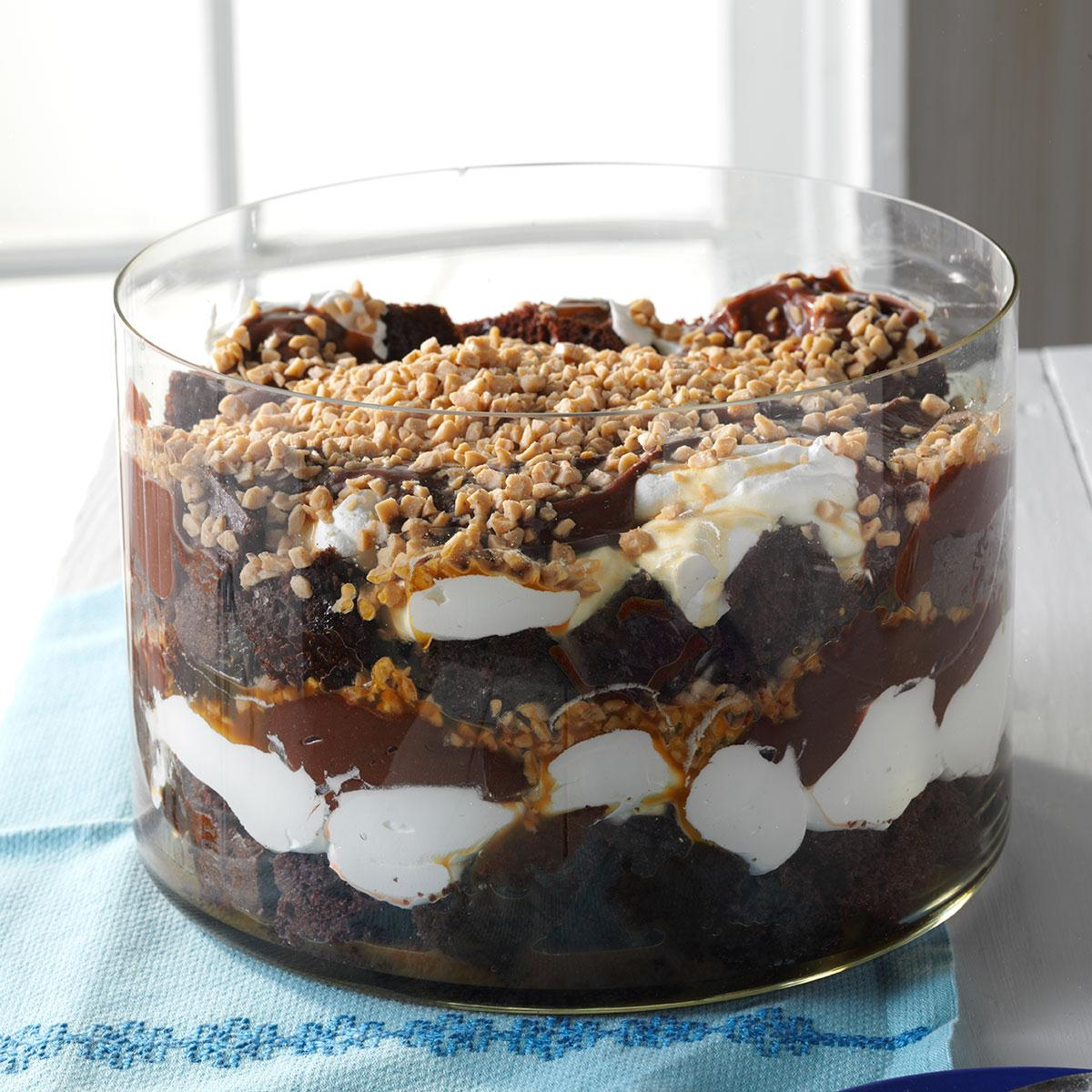 Caramel Chocolate Trifle Recipe Taste Of Home