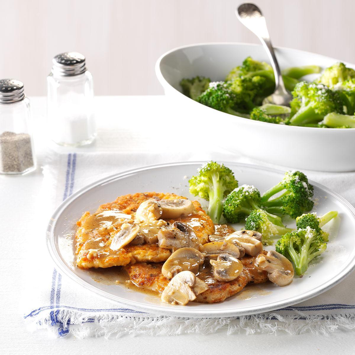 Garlic-Mushroom Turkey Slices Recipe | Taste of Home