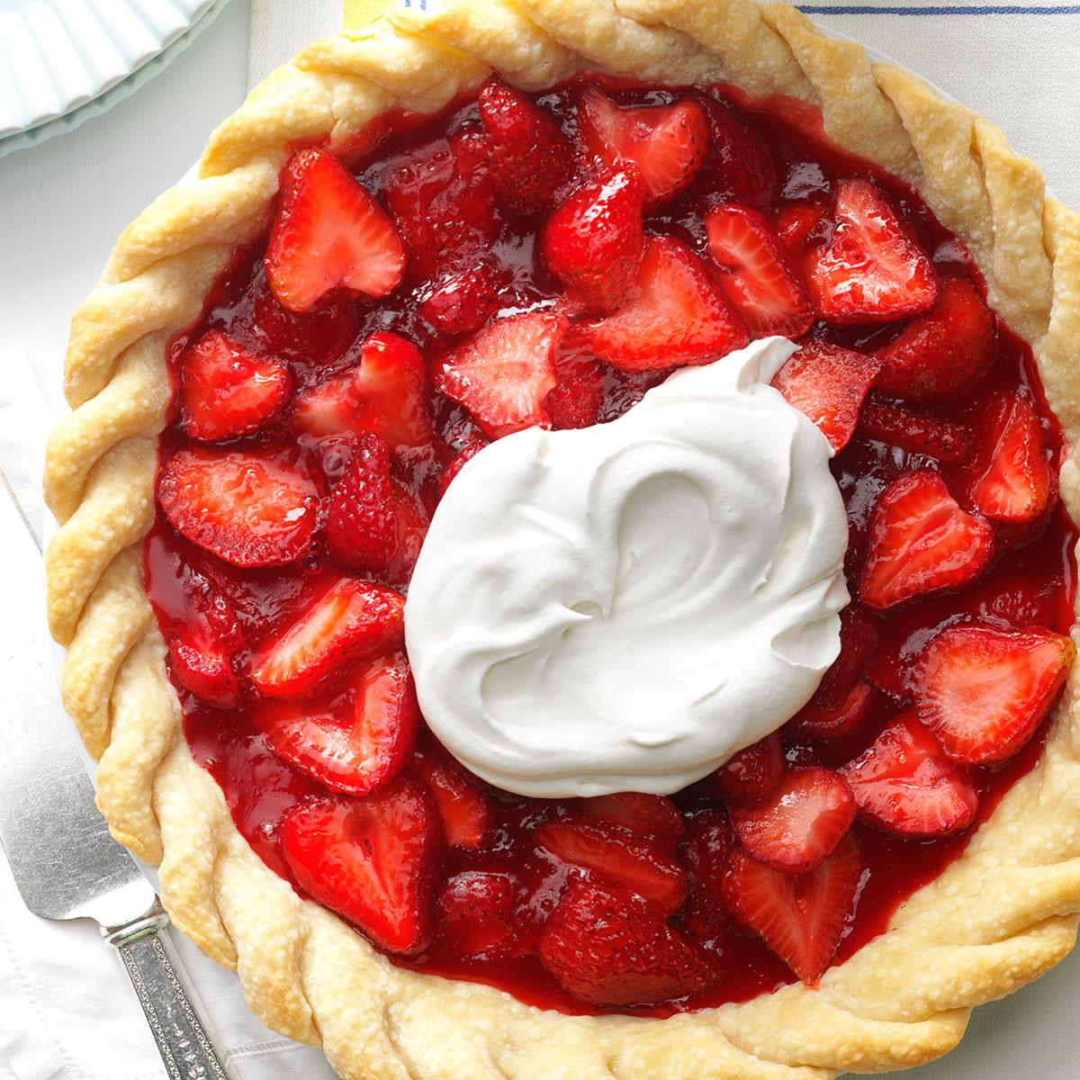 Easy Fresh Strawberry Pie Recipe Taste Of Home
