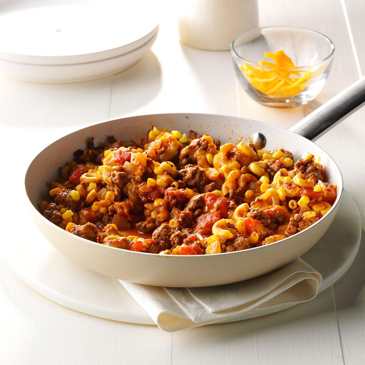 Healthy Ground Beef Recipes: Mexi-Mac Skillet Recipe