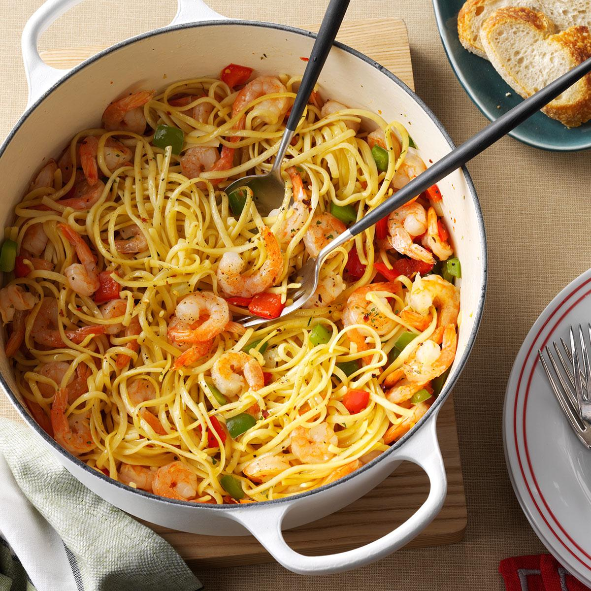 Christmas eve confetti pasta recipe taste of home for Fancy at home dinners