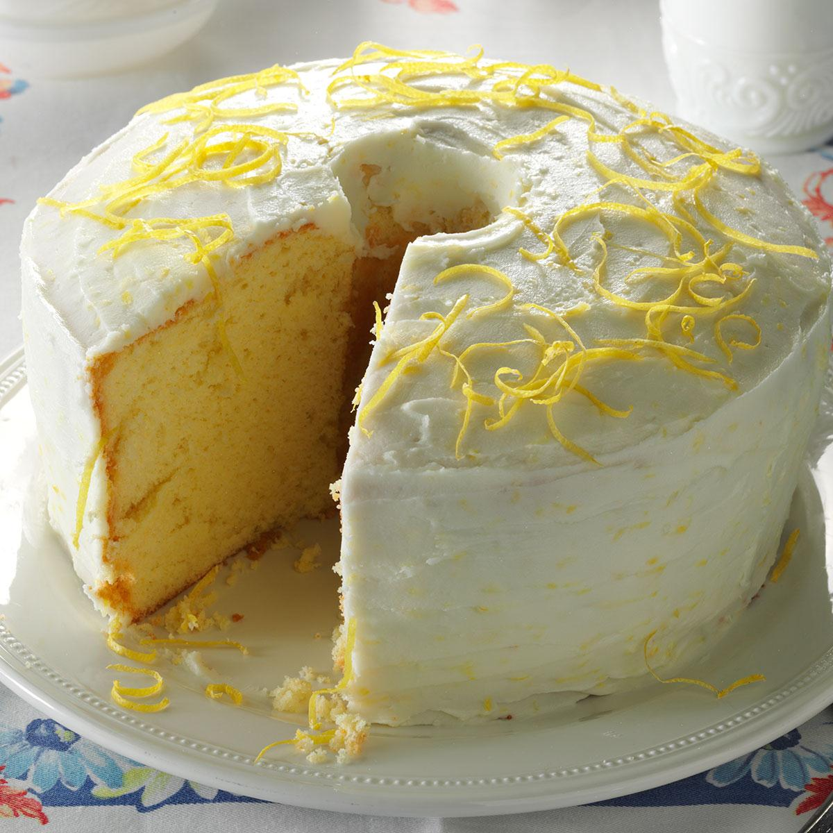 Lemon Chiffon Cake Recipe Taste Of Home
