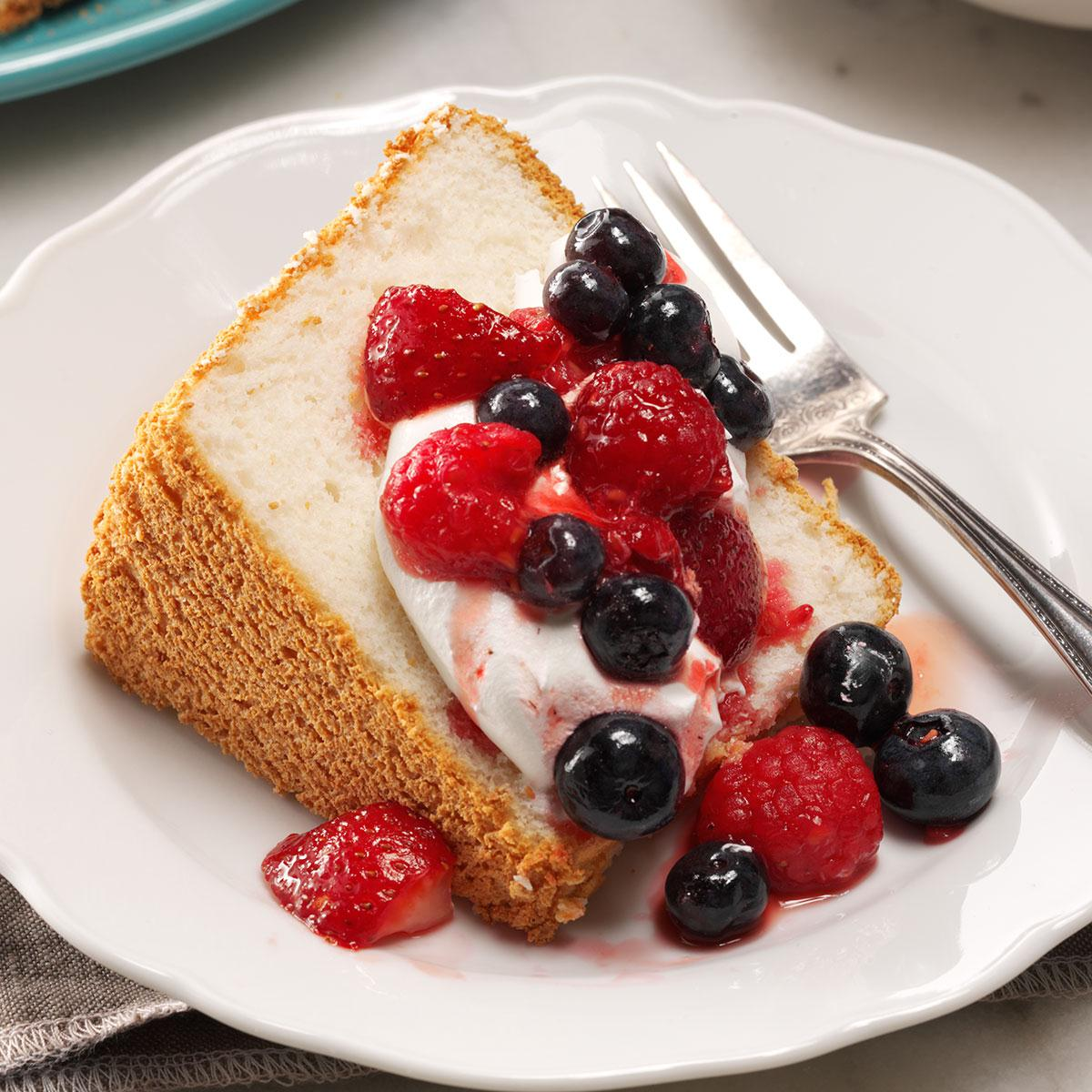 Angel Food Cake With Sherbet