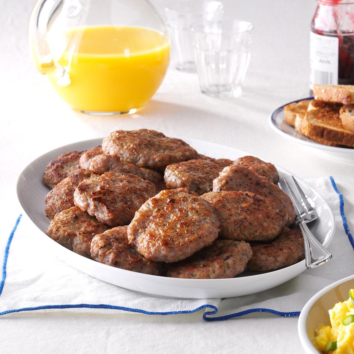 Homemade Breakfast Sausage Patties Recipe   Taste of Home