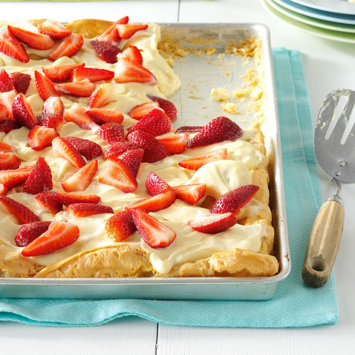 Need to bring a dish to pass this weekend? This make-ahead layered dessert will disappear quickly at get-togethers. Recipe for Strawberry Pretzel.