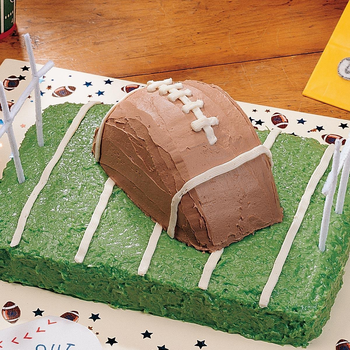 Football Cake Recipe Taste Of Home