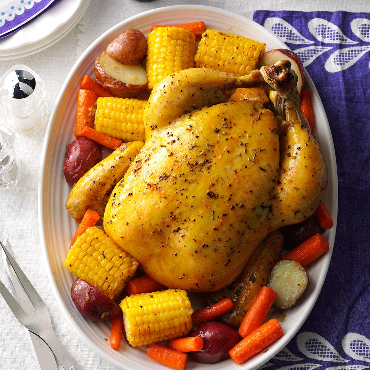 Roast Chicken With Vegetables Recipe Taste Of Home