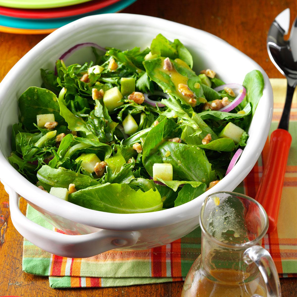 Apple Salad With Maple Mustard Vinaigrette Recipe Taste