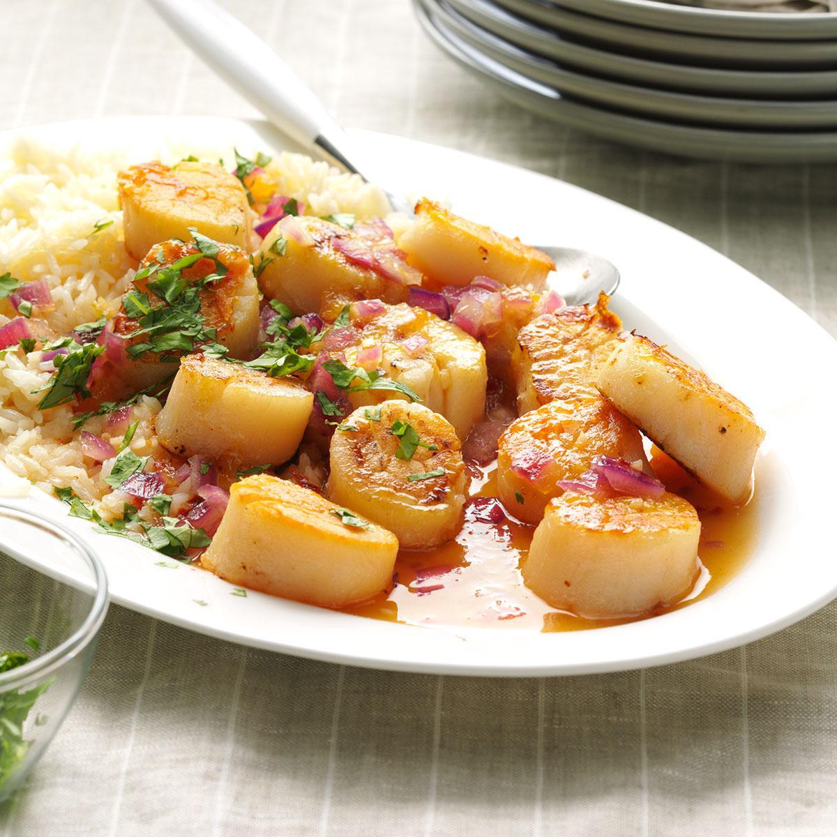 Spicy Mango Scallops Recipe Taste Of Home