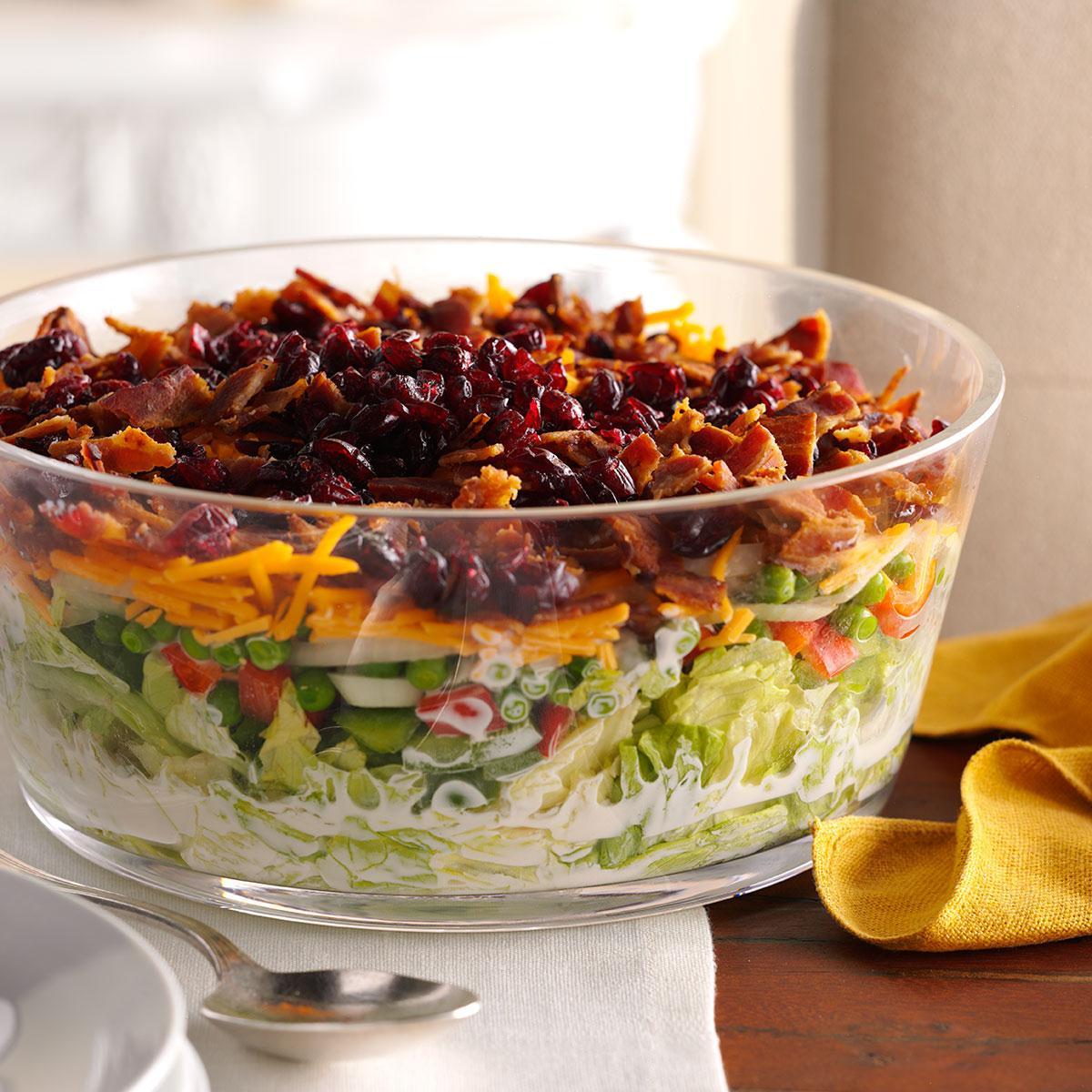 Overnight Layered Lettuce Salad Recipe Taste Of Home