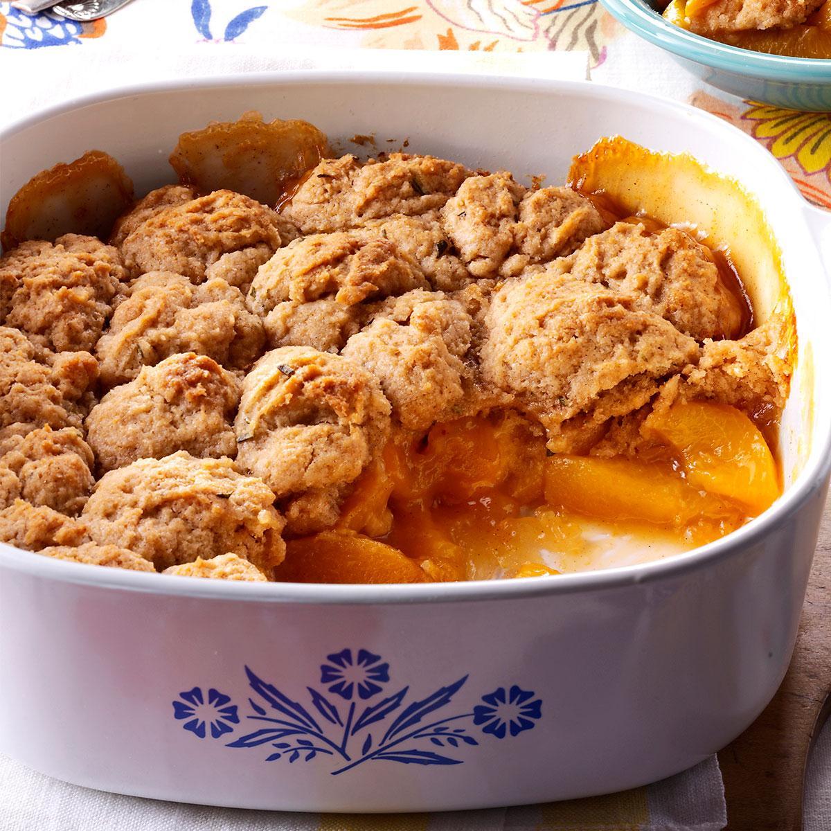 Peach-Rosemary Cobbler Recipe
