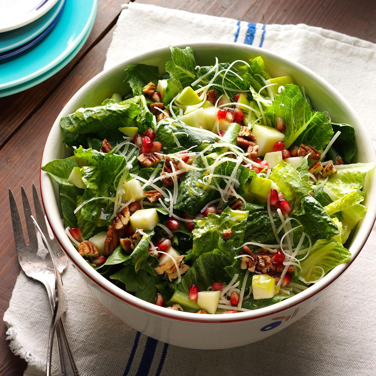 wendy 39 s apple pomegranate salad recipe taste of home