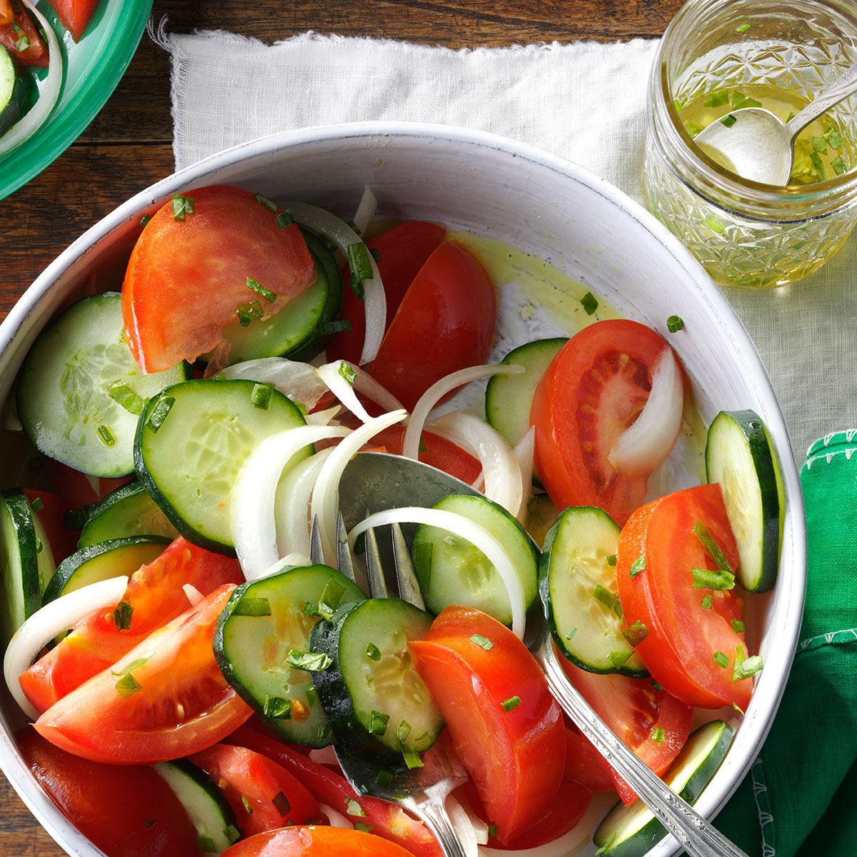garden tomato salad recipe taste of home