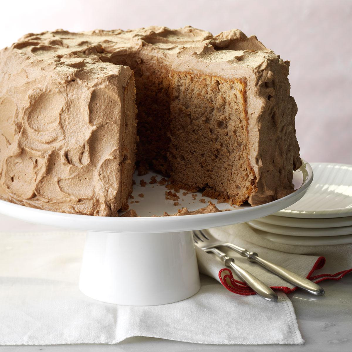 Chocolate angel cake recipe taste of home - Herve cuisine cake chocolat ...