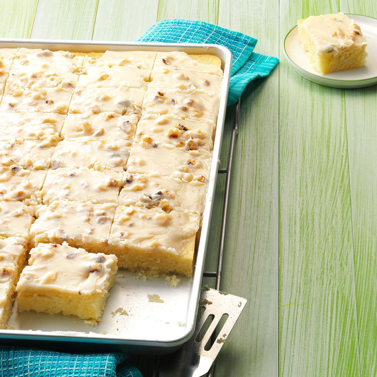 White Texas Sheet Cake X