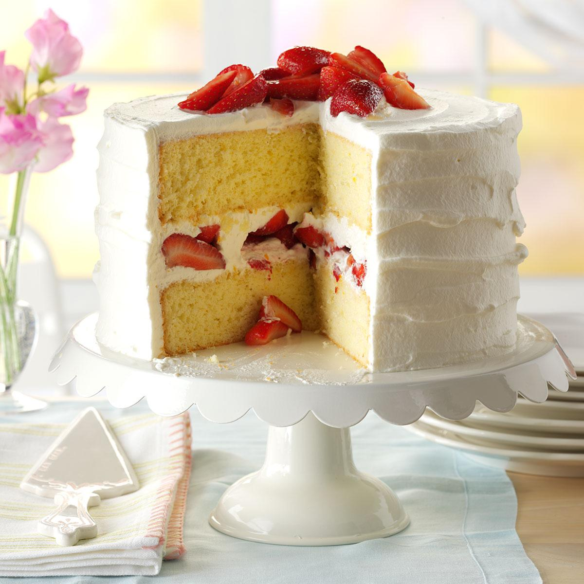 Strawberry Mascarpone Cake Recipe